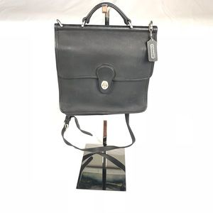Coach Willis Bag Black and Silver Hardware